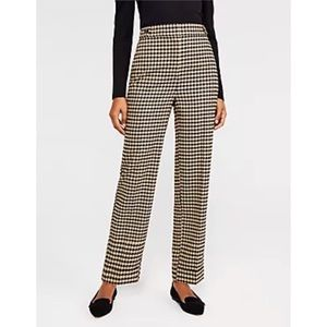 ANN TAYLOR Petite Straight Houndstooth Pants Size 8